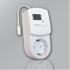 Терморегулятор terneo rz для обогревателя с внешним датчиком t
